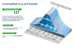 A more realistic IQ score