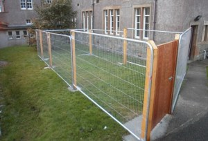 Cage resembling Dog Run meant for Autistic Student